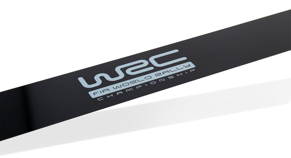 WRC black smoked sunshade banner 125x10