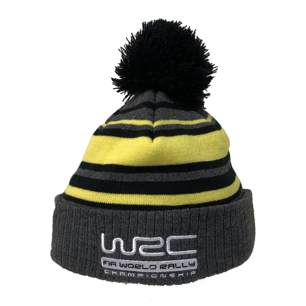Wales Rally GB Striped Pom Beanie