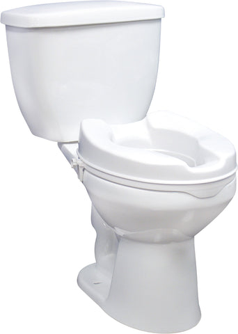 Raised Toilet Seat with Clamps