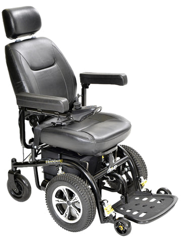 "TRIDENT Power Wheelchair with 18"" Captain's Seat"