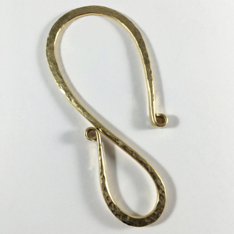 Key Hook in Heavy Brass