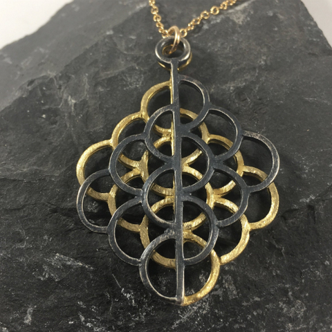Sacred Geometry Lotus Necklace