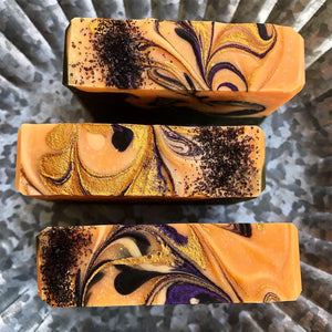 Sugar & Pumpkin Spice Sweet Soap with REAL Pumpkin & Activated Charcoal