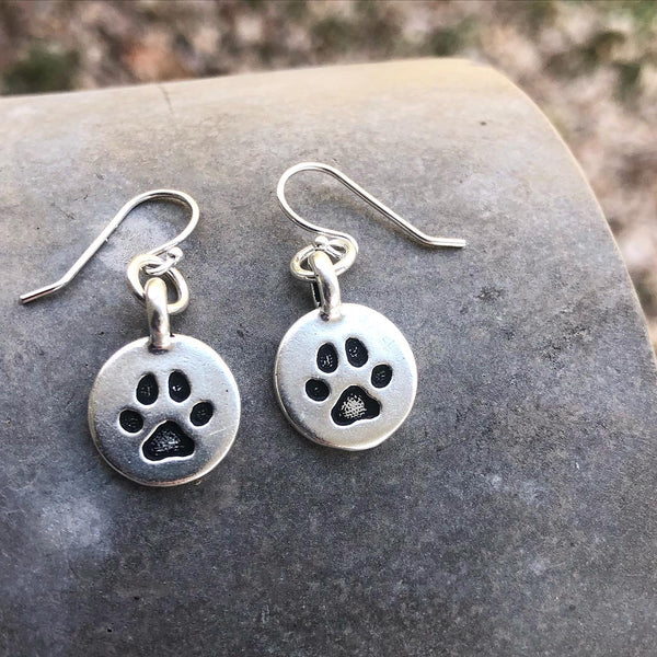 Paw Print, Pet Lover, Kentucky Wildcat Fan Earrings