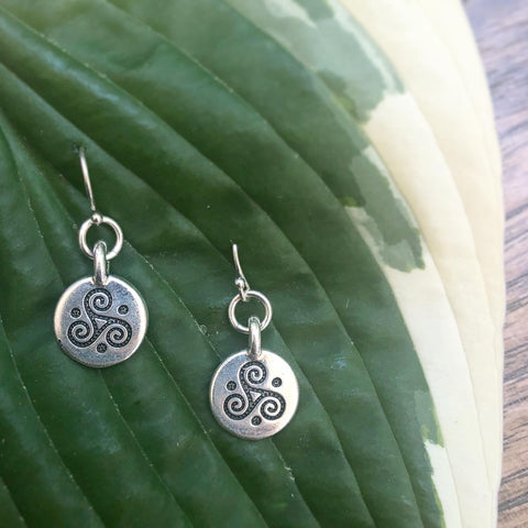 Celtic Goddess Earrings in Sterling Silver