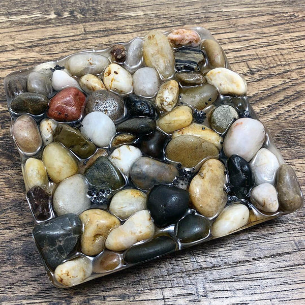 Natural River Pebble Tray, Soap Holder, Coaster