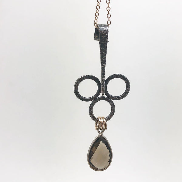 Balance II in Silver with Gold Accents & Smokey Quartz