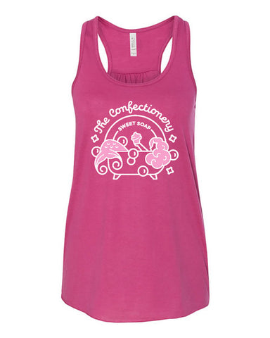 The Confectionery Logo Tank in Berry by Burnt Prairie