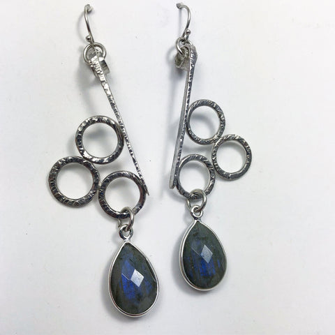 Balance XI Sterling Silver with Labadorite Dangles