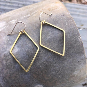 Minimalist Earrings Forged in Silver & Brass