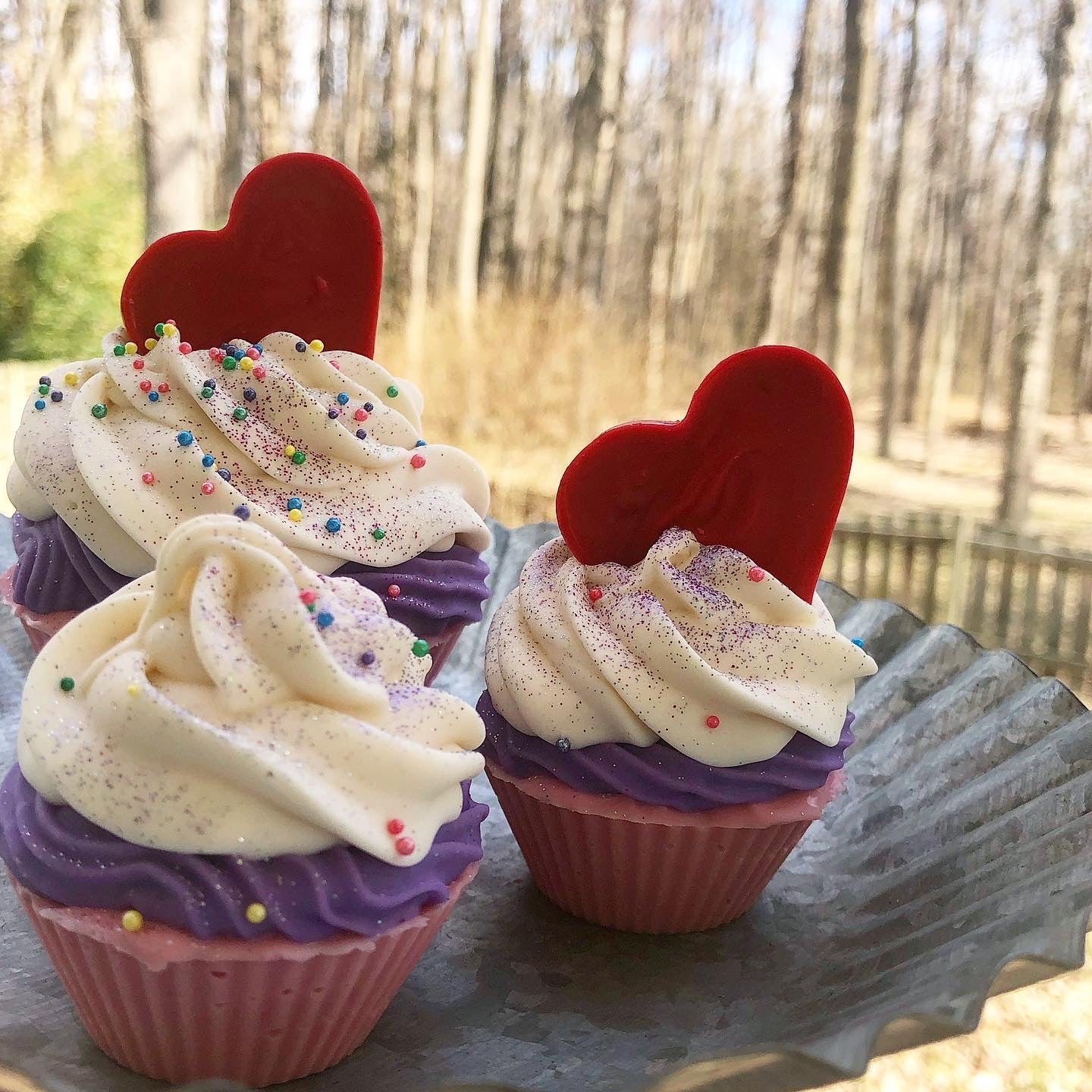 Hearts on Fire Sweet Soap Cupcake