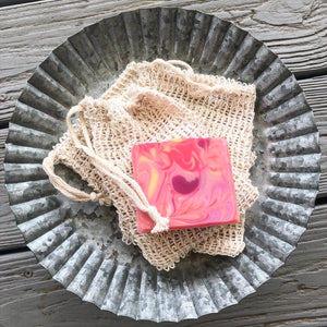 Organic Soap Bubble & Exfoliation Bag