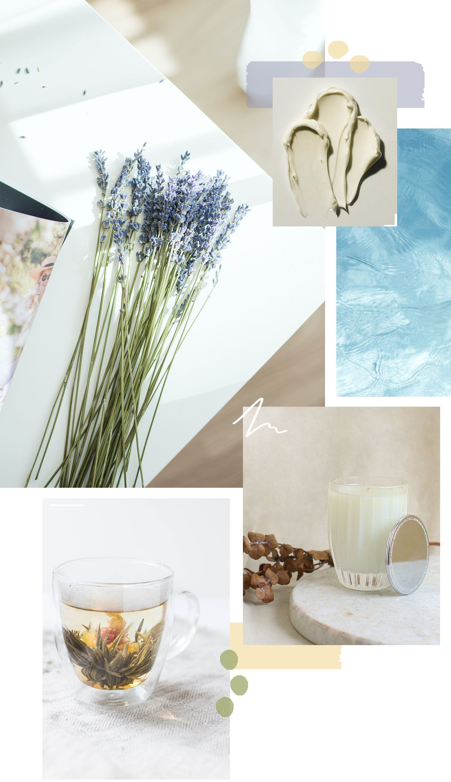 Relaxing spa mood board
