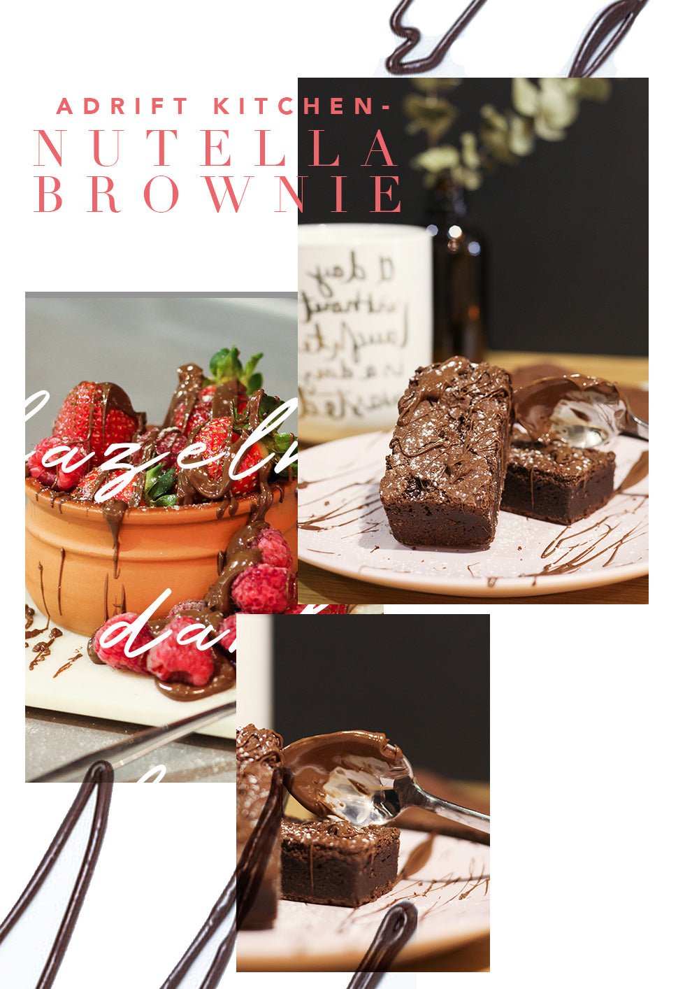 Nutella Brownie Collage