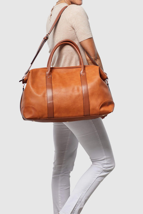 Alexis Weekender Travel Bag in Tan
