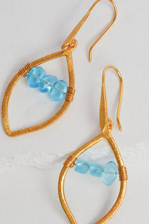 Arlo Hoops in Turquoise