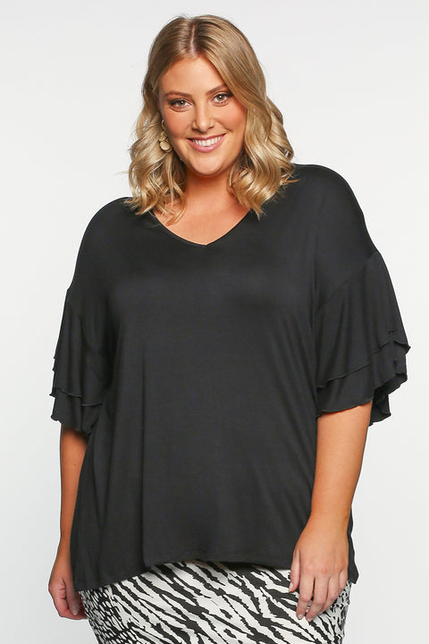 Betty Basics Ripon Top in Black