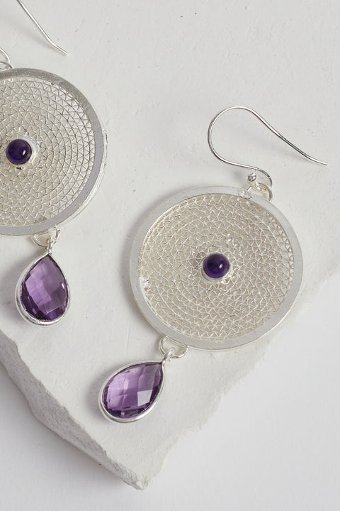 Bahati Earrings in Amethyst