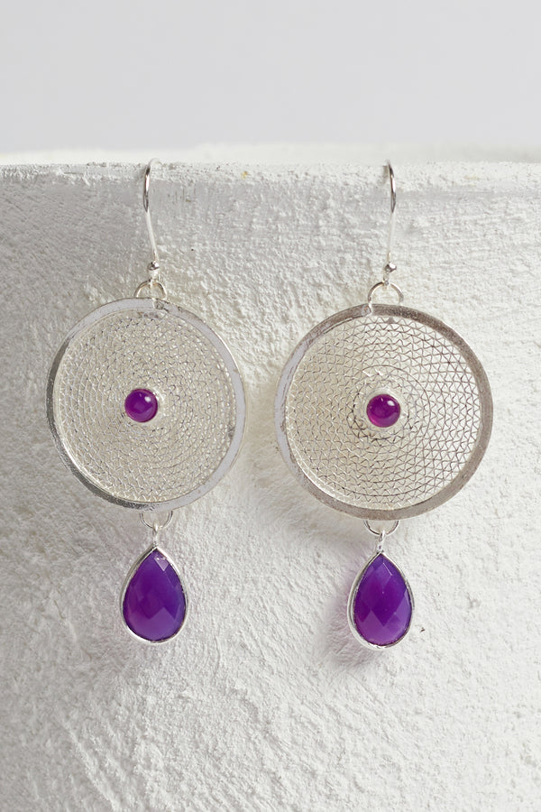Bahati Earrings in Deep Amethyst
