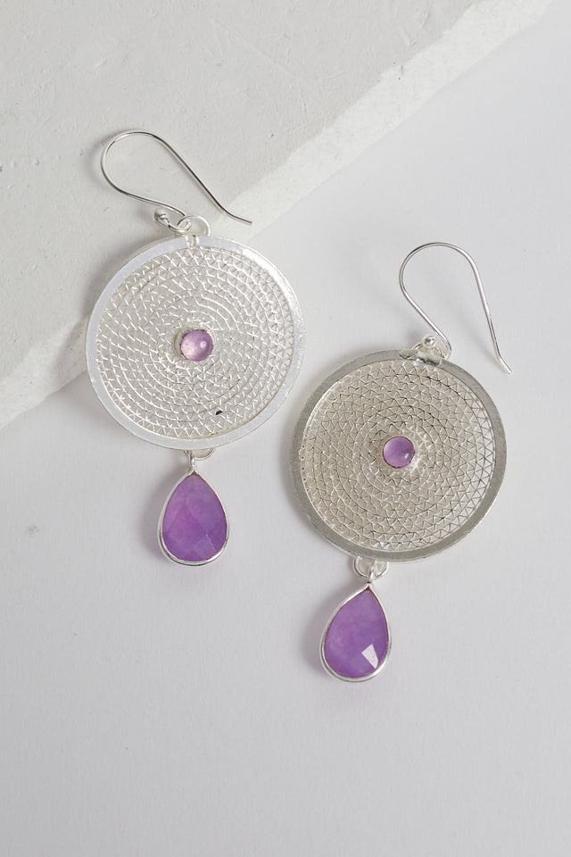 Bahati Earrings in Lavender Quartz