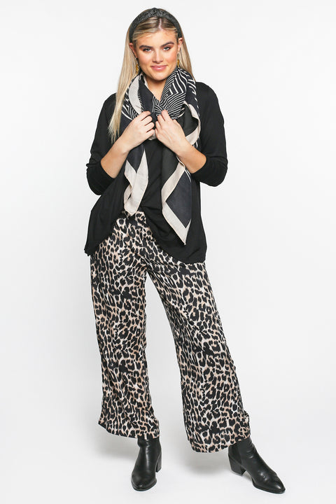 Camille Wide Leg Pant in Luxe Leopard - PRE ORDER