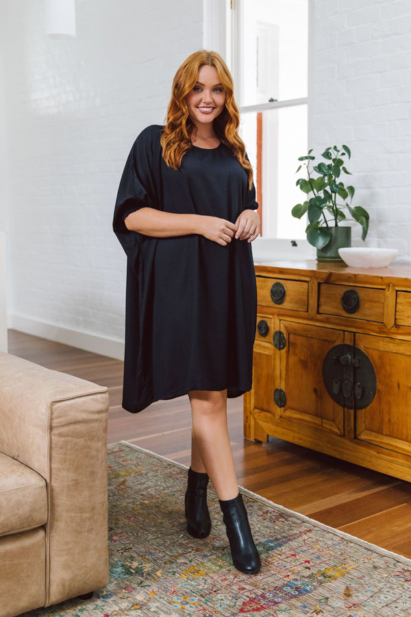 Cherie Oversized Dress in Black