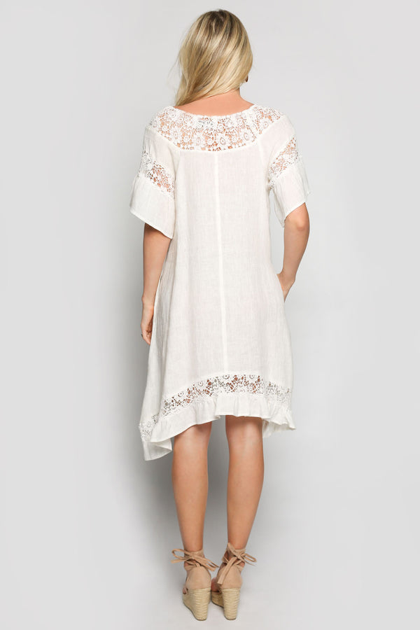 Colbie Dress in Cream (Plus Size)