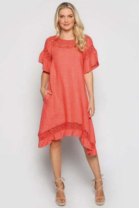 Colbie Dress in Melon (Plus Size)