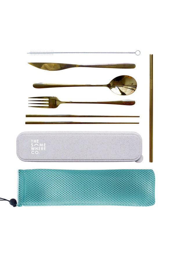 Take Me Away Cutlery Kit in Gold