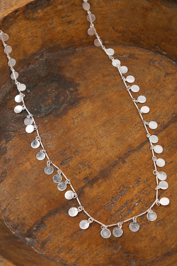 Round Tinkle Necklace in Silver