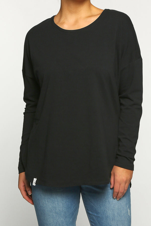 Society Long Sleeve Tee in Black