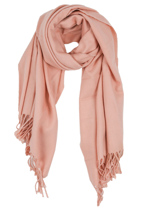 Luxe Tassel Scarf in Pink