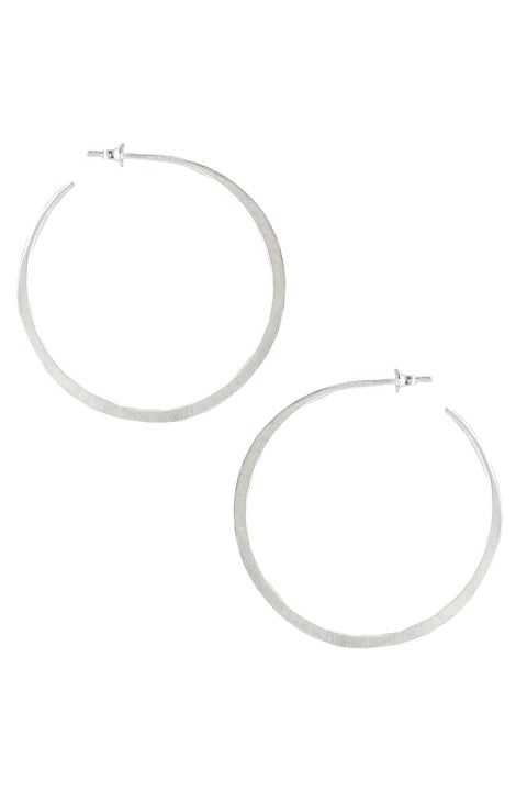 Gina Hoops in Silver