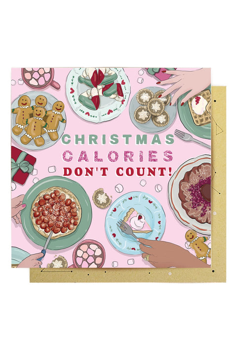 Greeting Card Christmas Calories