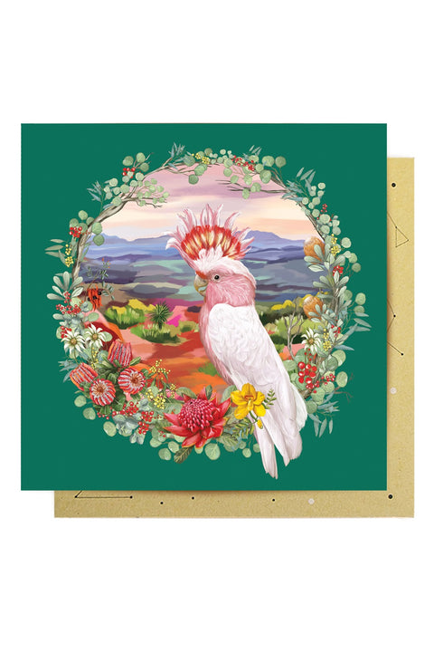 Greeting Card Nature Dwellings Wreath