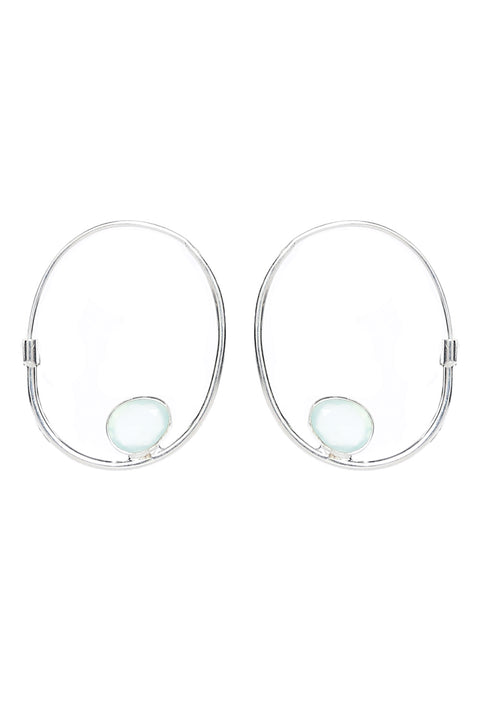 Harley Hoops in Aqua Onyx