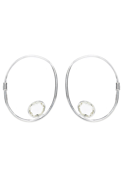 Harley Hoops in Chryso Onyx