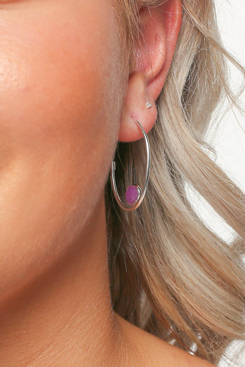 Harley Hoops in Lavender Quartz