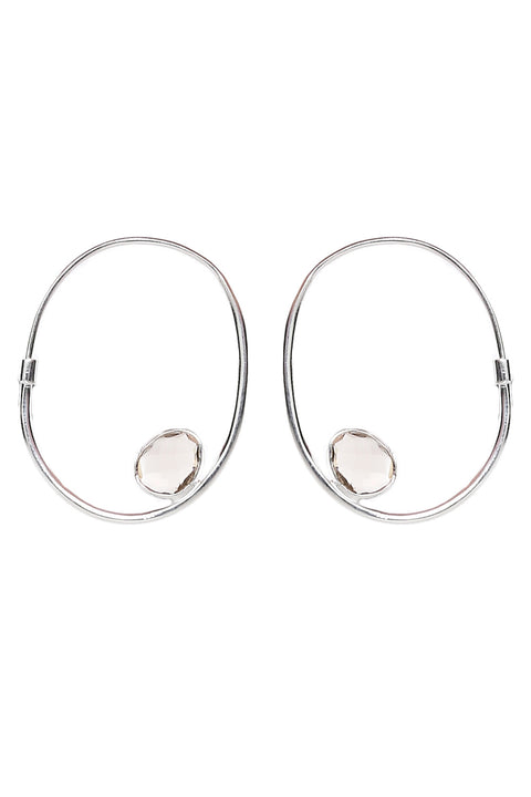 Harley Hoops in Smoky Quartz