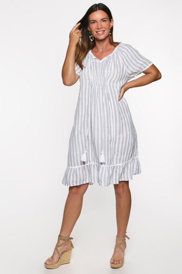 Lucy Linen Dress in Key Largo