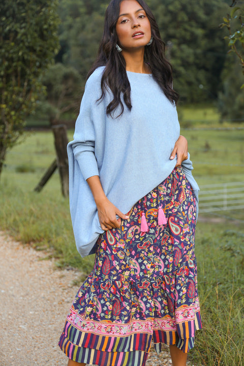 Mia Oversized Jumper in Sky Blue
