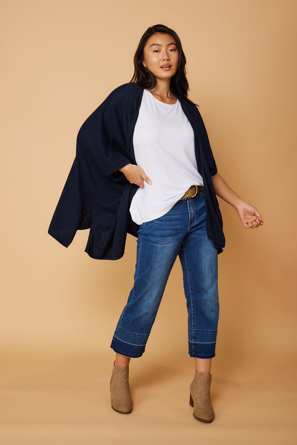Myah Cardigan in Navy