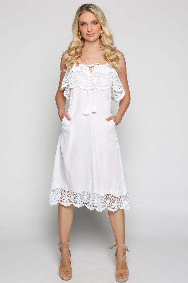 Nash Dress in Lace White