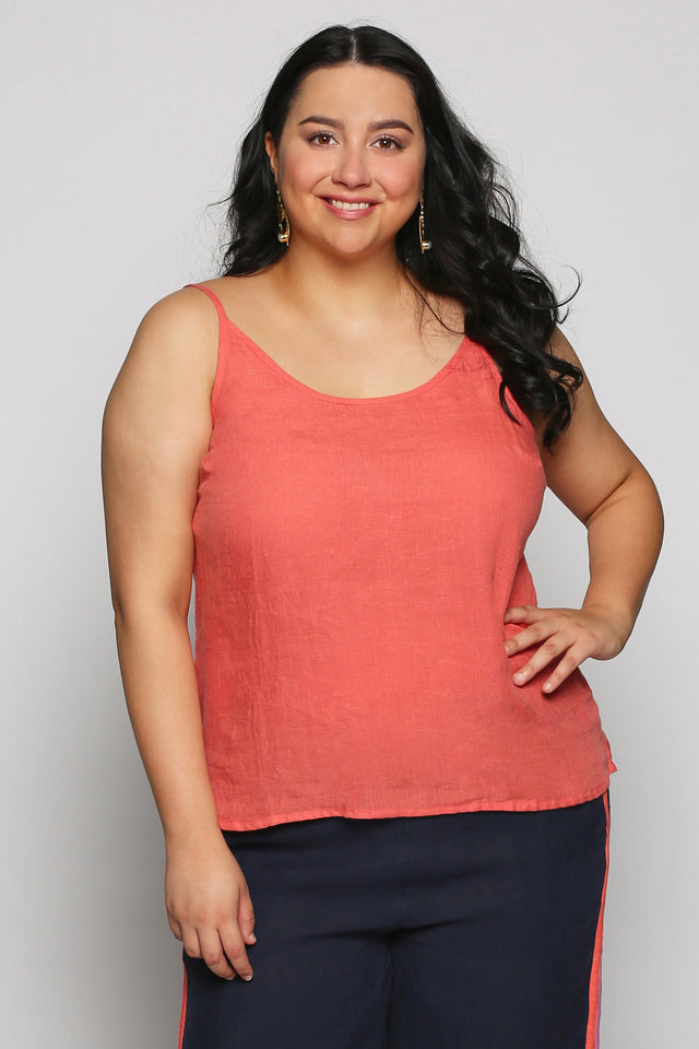Reyna Cami in Melon (Plus Size)