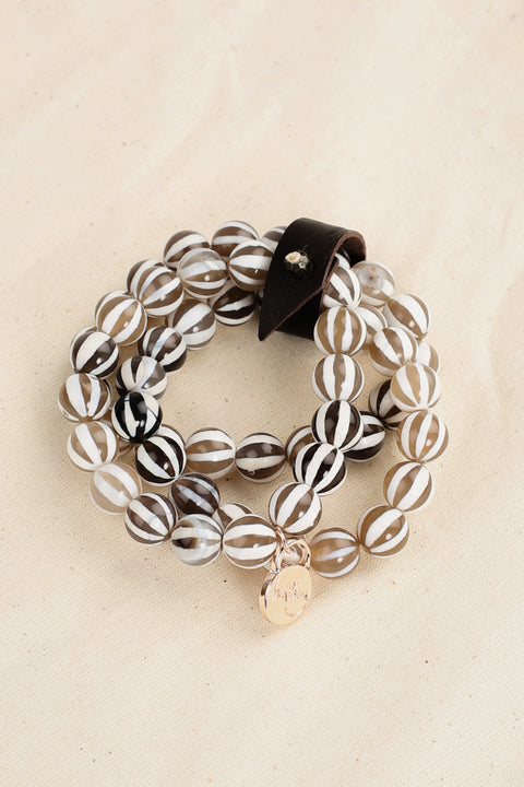 Sienna Bracelet in Brown Stripe