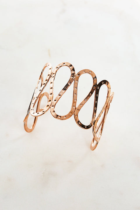 Cleo Bangle in Rose Gold