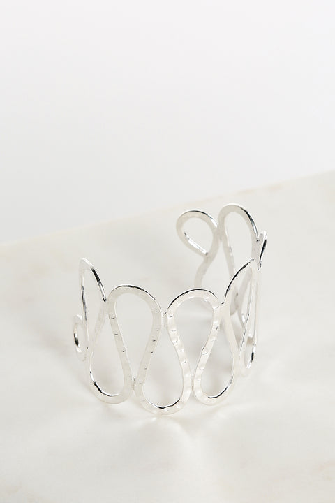 Cleo Bangle in Silver