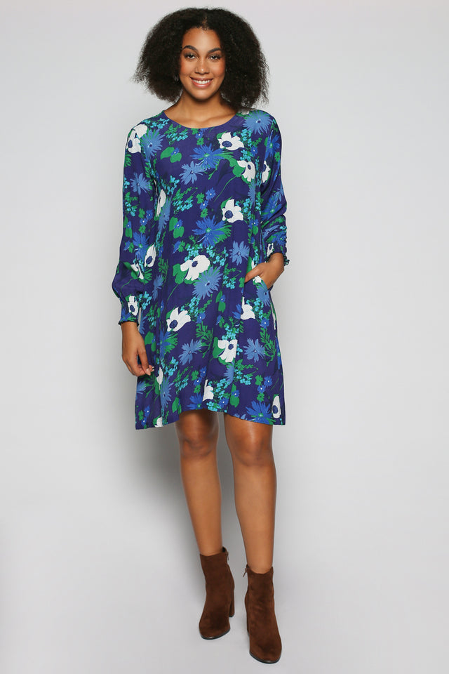 Zoe Dress in Posy Blue