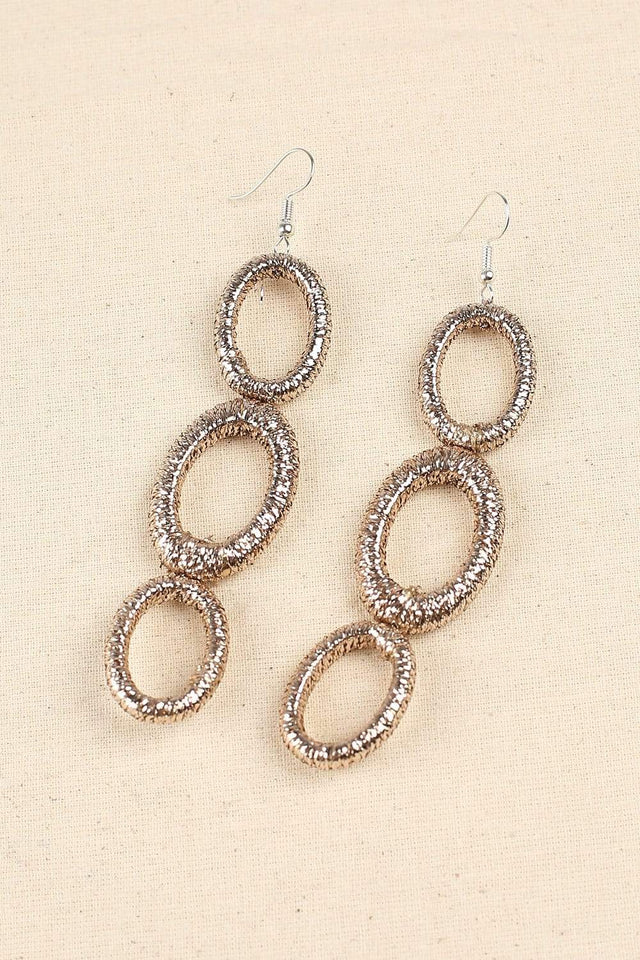Adrift Clothing Earrings Champagne / O/S After Party Earrings in Champagne