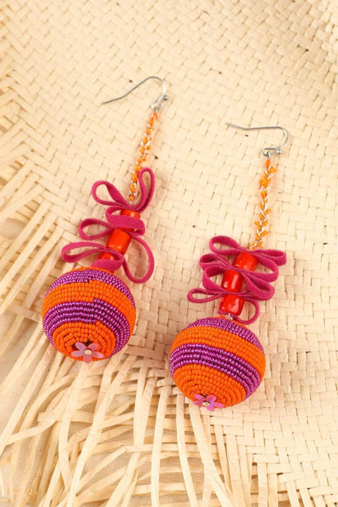 Adrift Clothing Earrings Pink / O/S Arty Earrings in Pink